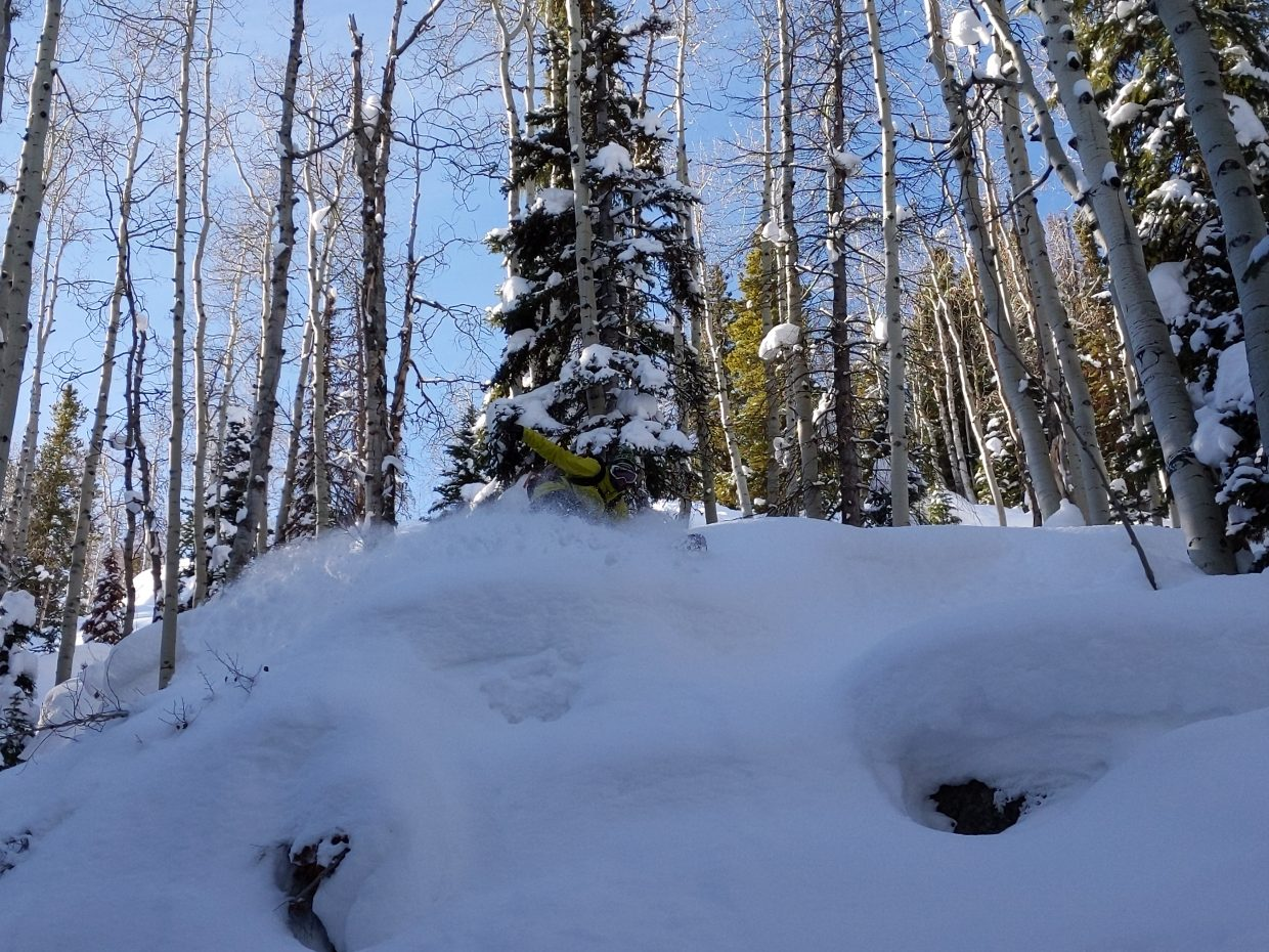 Matthew Wood shares photos from his snowboarding adventure on Rabbiy Ears Pass.