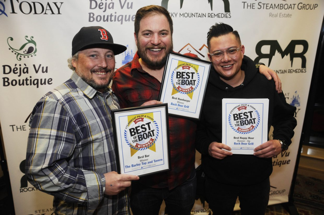 Best Bar: The Barley Tap and Tavern Best Hamburger: Back Door Grill