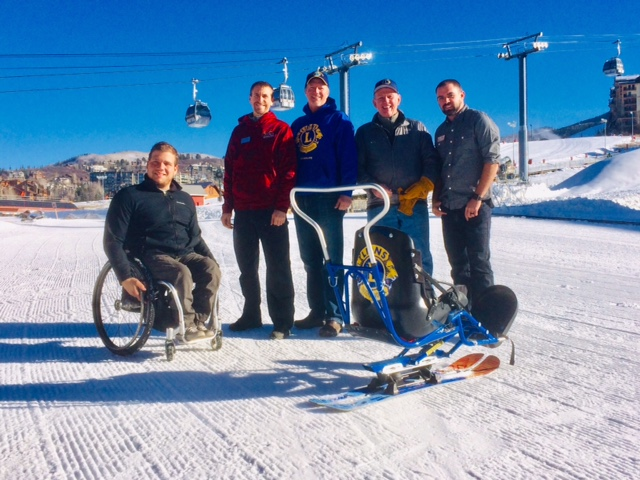 Steamboat Ski Town Lions Club purchased a new bi-ski for STARS.