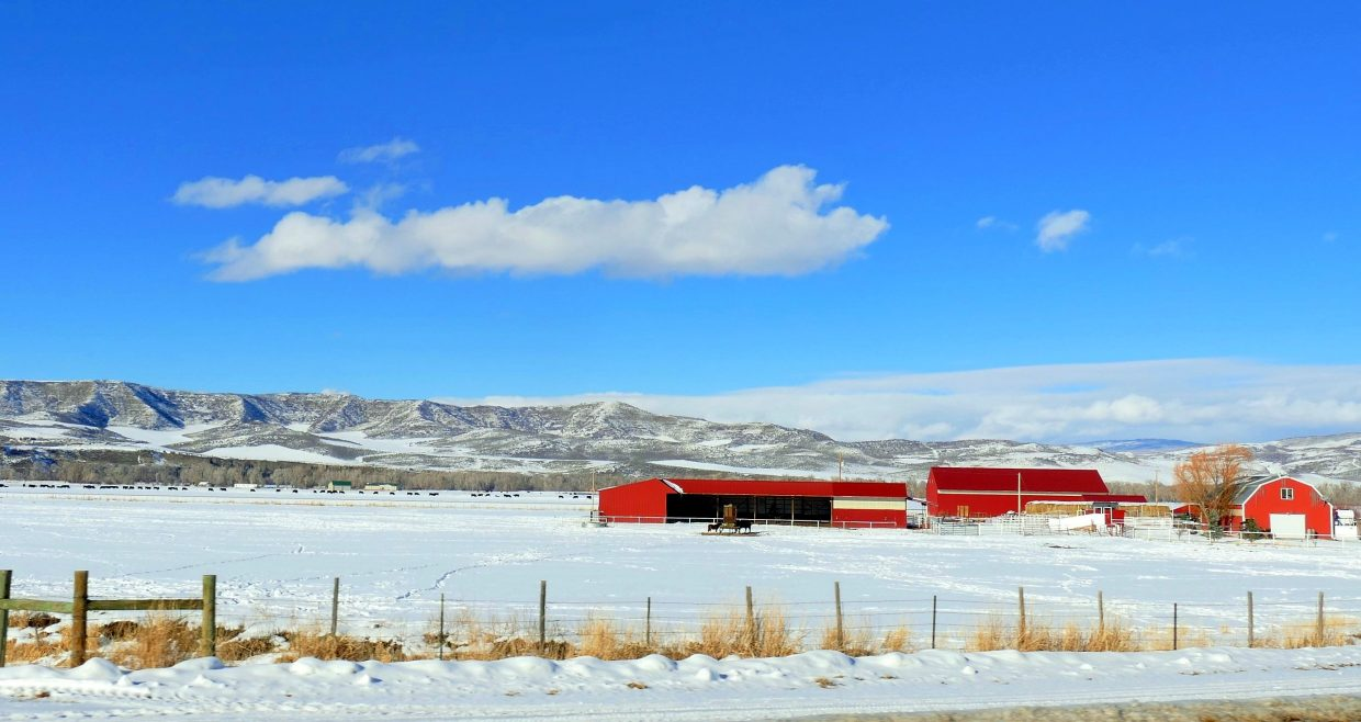 From Hwy 40 in Northwest Colorado.