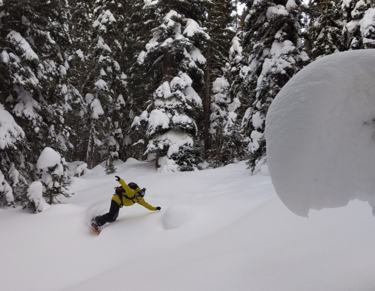 Matthew Wood shares his adventures snowboarding on Rabbit Ears Pass.