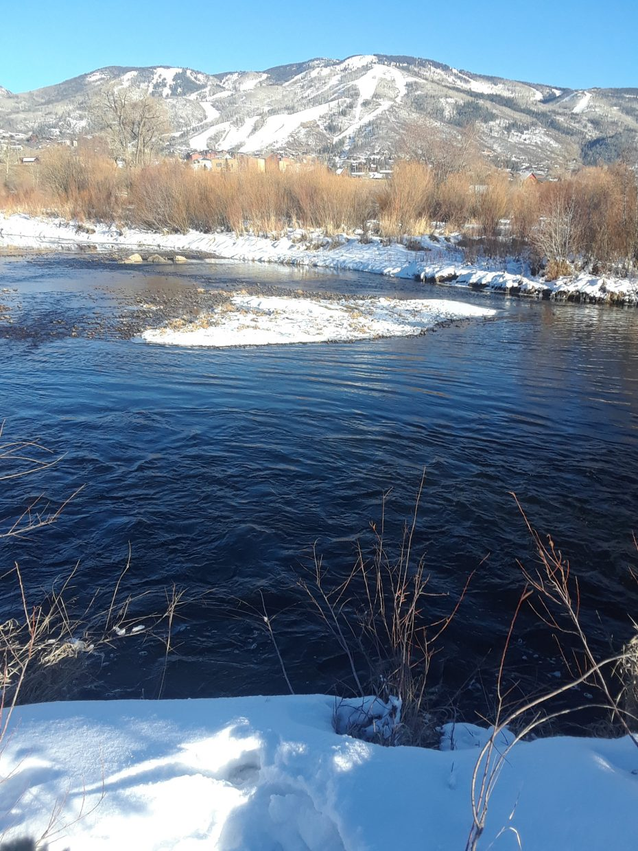 Carolyn Tracy shares a shot of what Steamboat Springs looked like back in November.