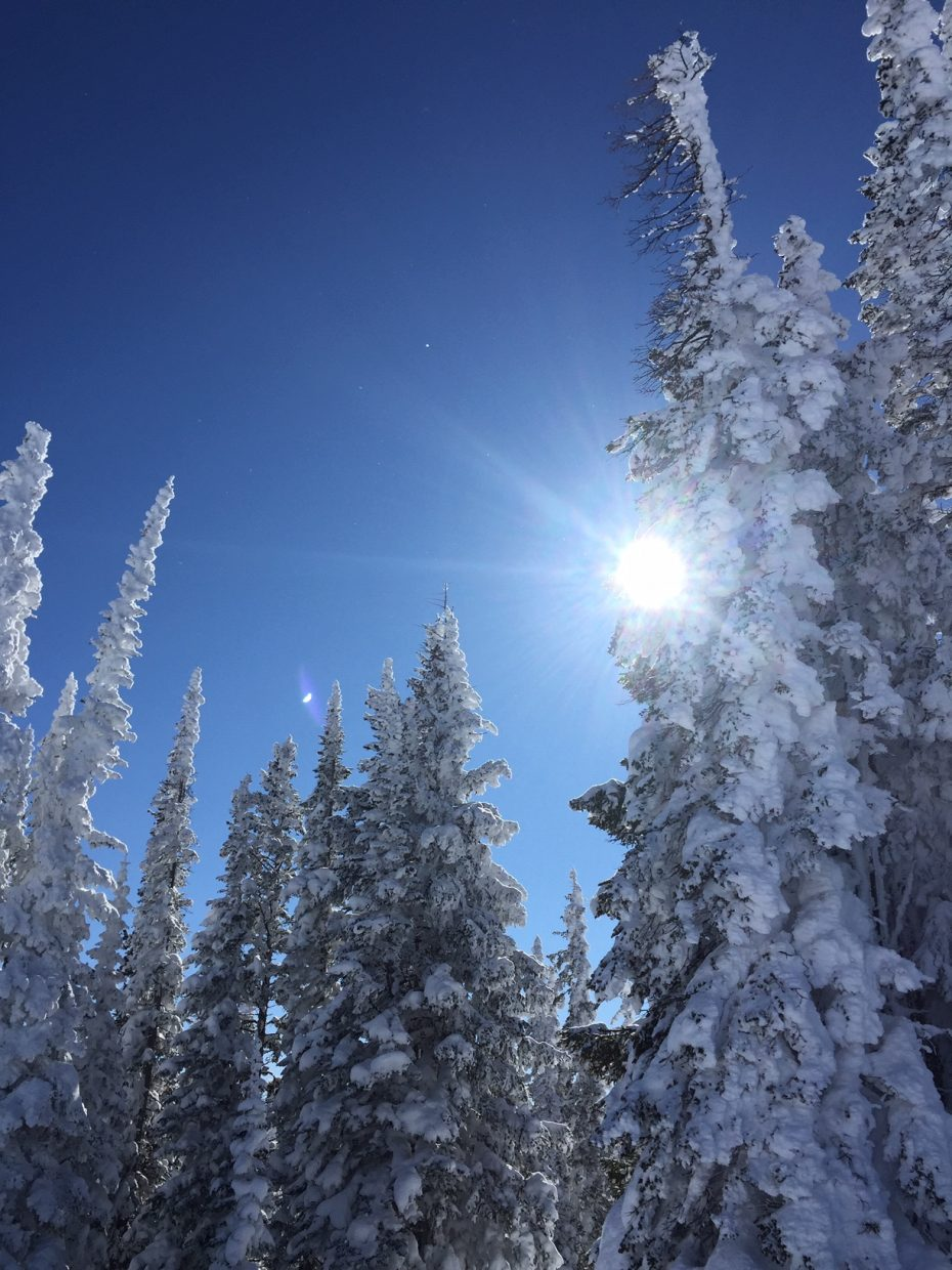 It was a bluebird day at Steamboat Resort.