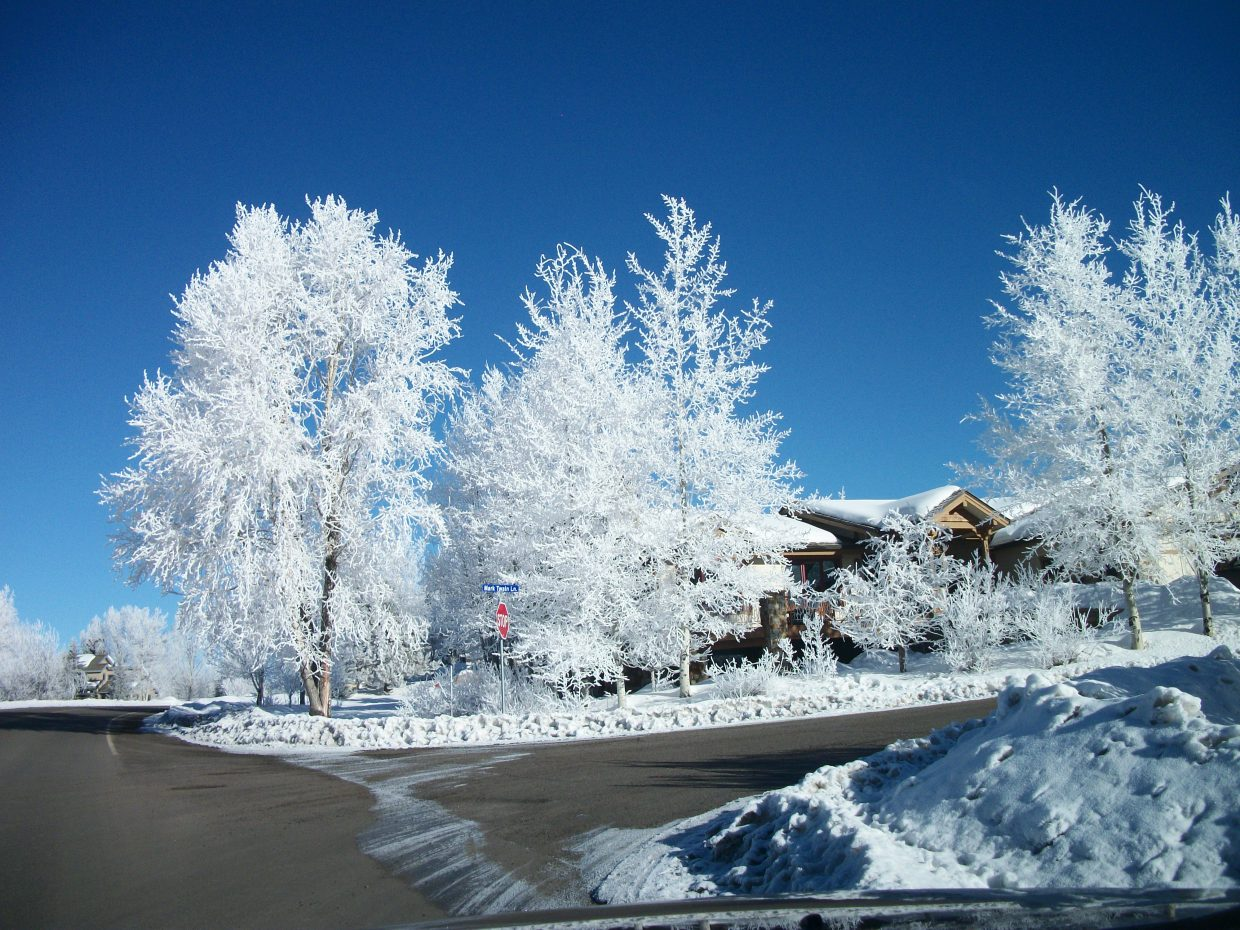 A frosty morning in Steamboat.