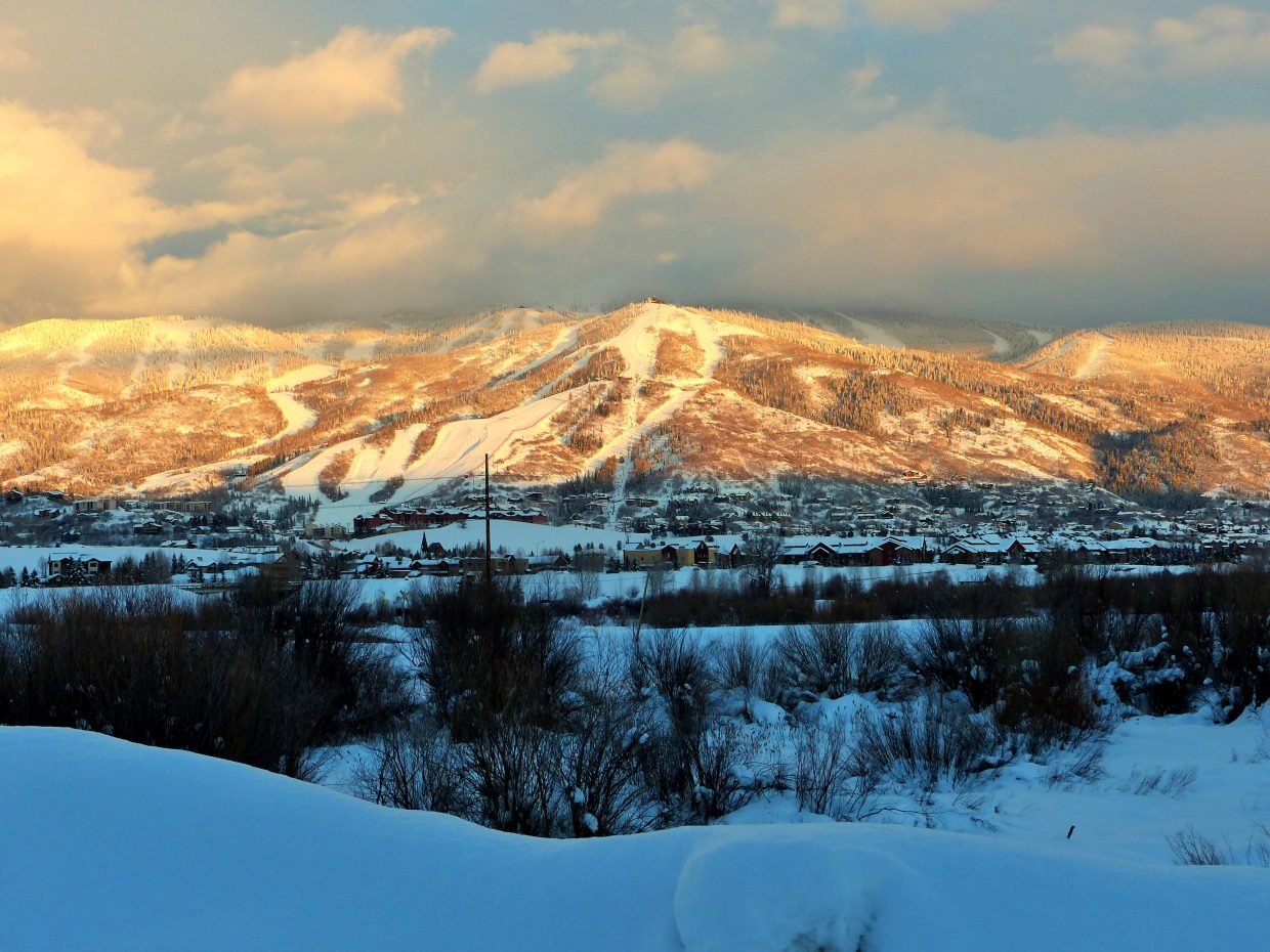 Steamboat alpenglow