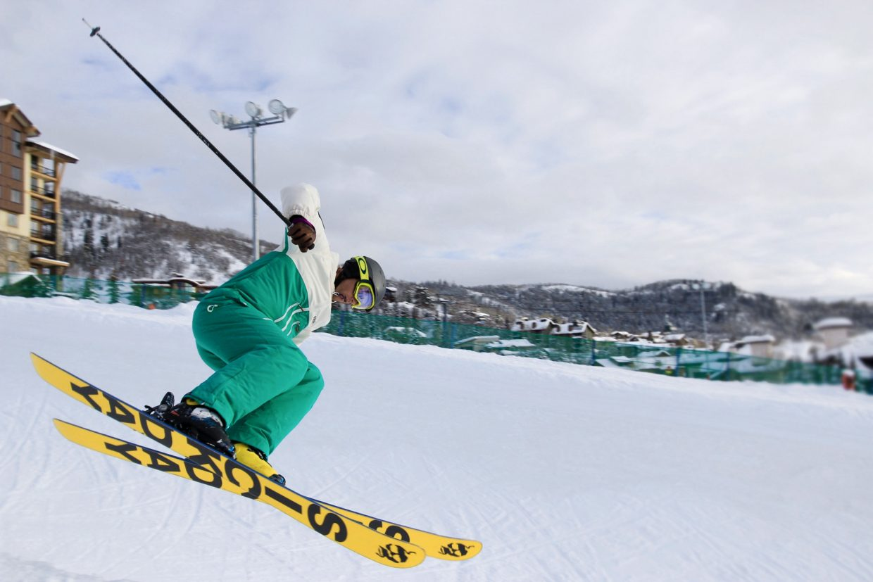 Skiers go big at Steamboat Resort during the week of Aspen X Games.