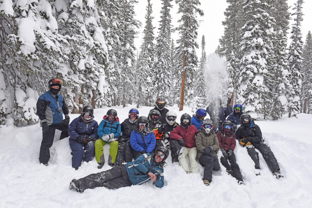 The Steamboat Pilot & today team took a break from the office to enjoy the snow at Rabbit Ears Pass.