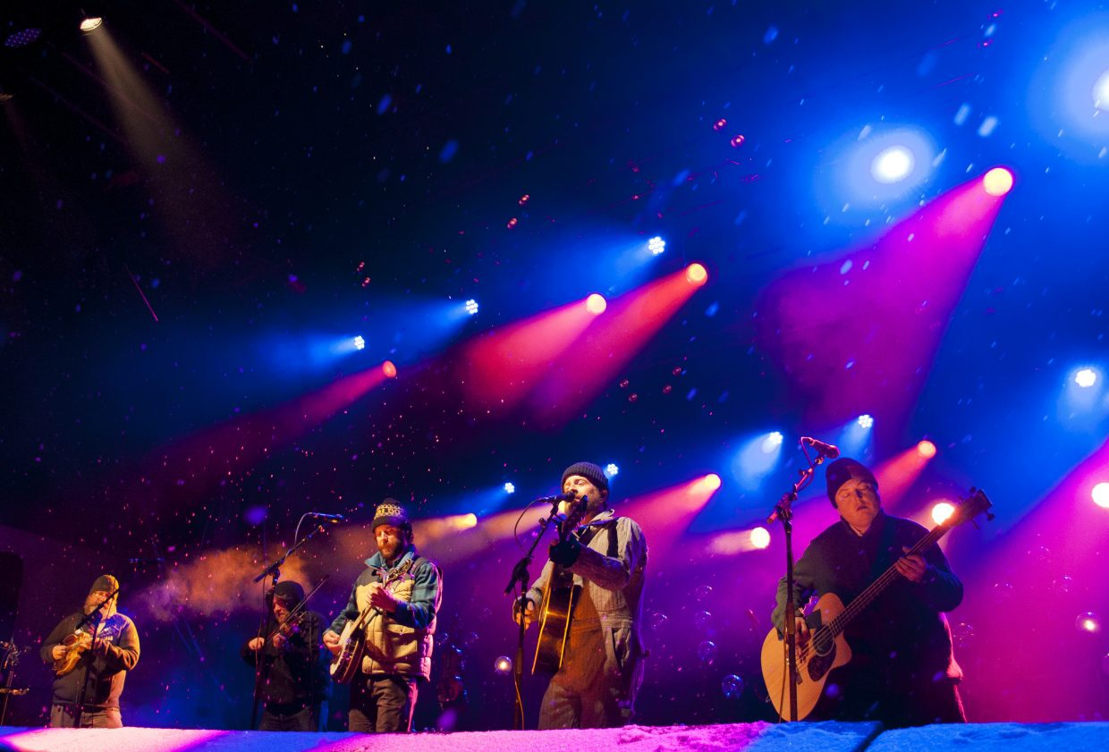 Trampled by Turtles played main stage at WinterWonderGrass in Steamboat Springs.