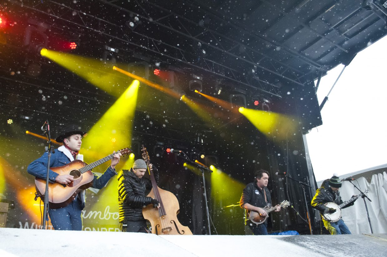 Jeff Austin Band plays main stage at the 2019 WinterWonderGrass on Friday, Feb. 22.
