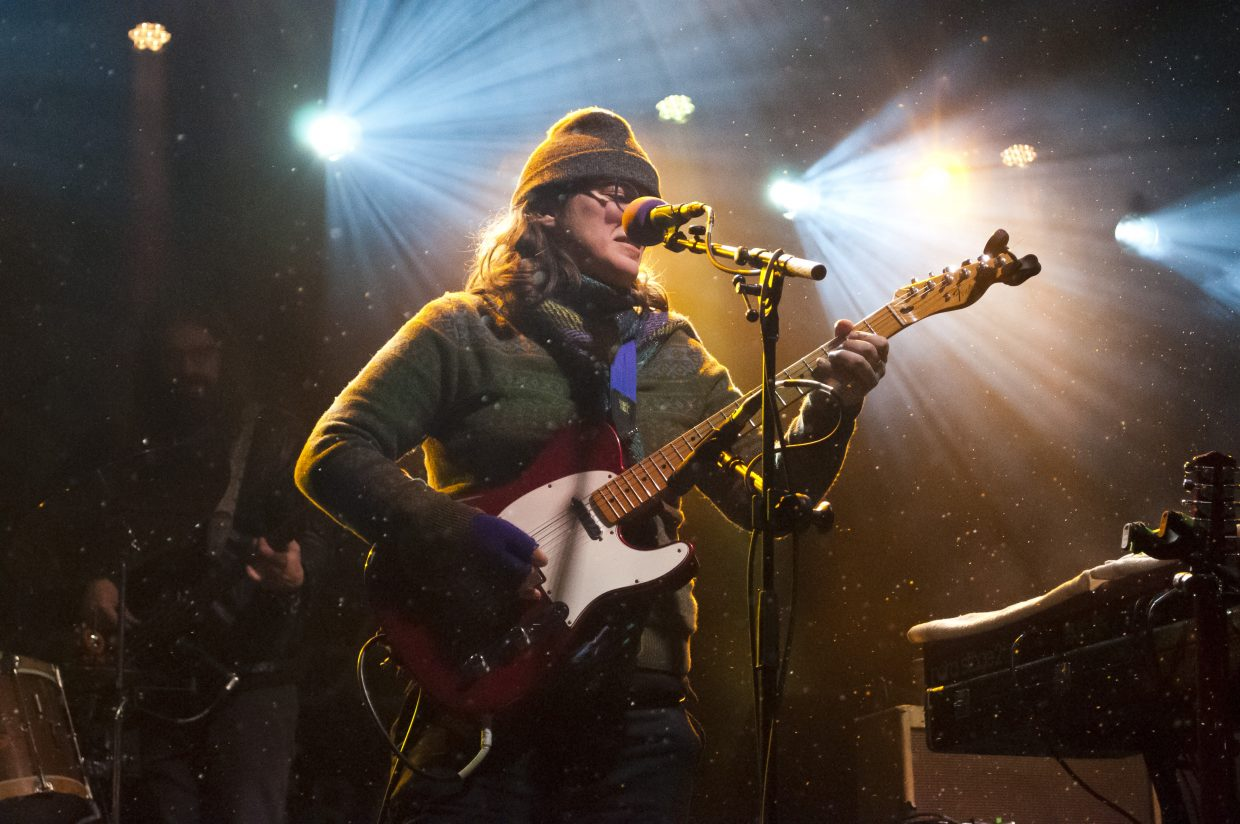 Mimi Naja, of Fruition, plays main stage with the rest of the band at the 2019 WinterWonderGrass on Friday, Feb. 22.