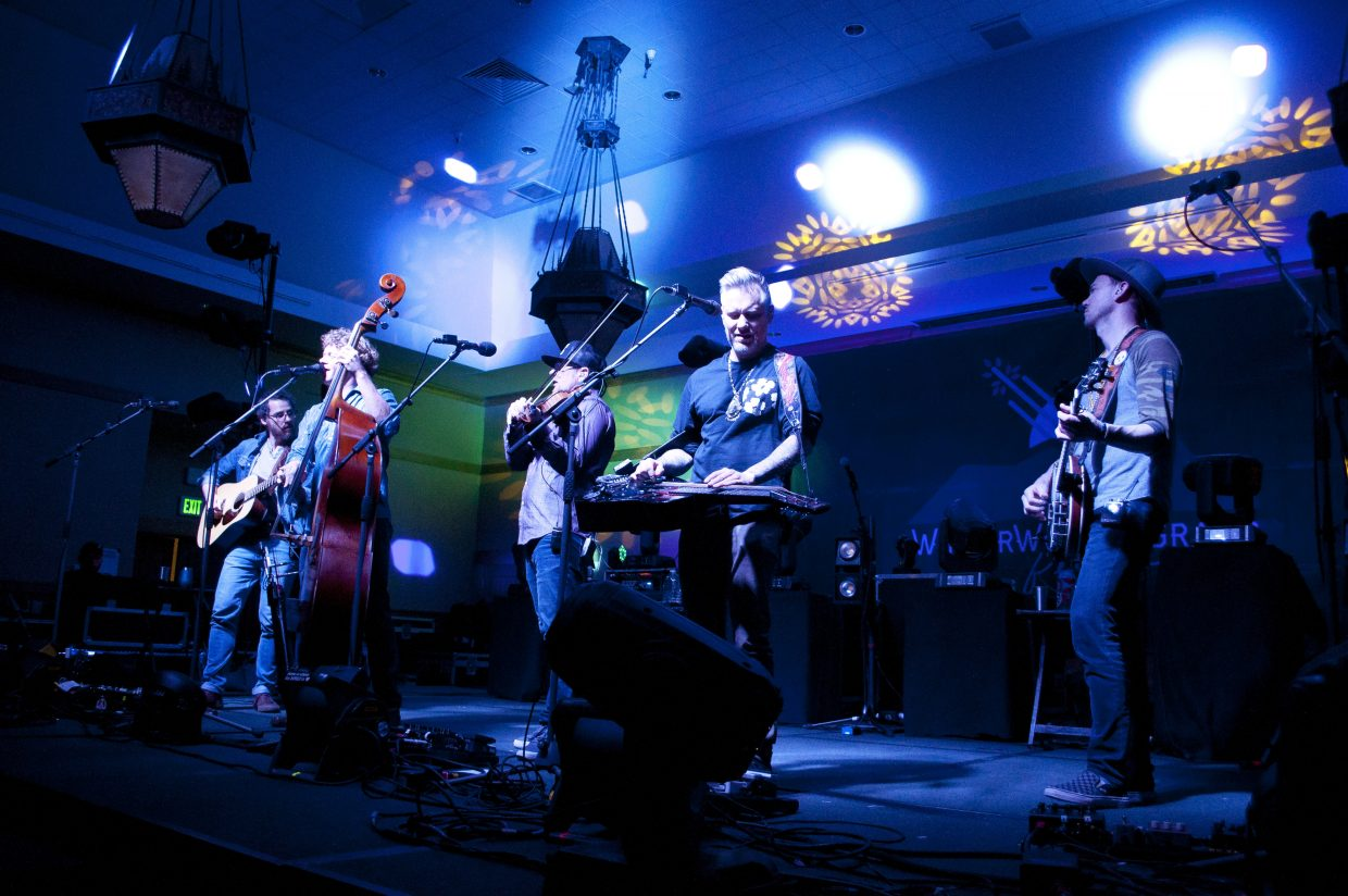 The Infamous Stringdusters played at The Steamboat Grand ballroom on Saturday night. They will close out WinterWonderGrass on Sunday.