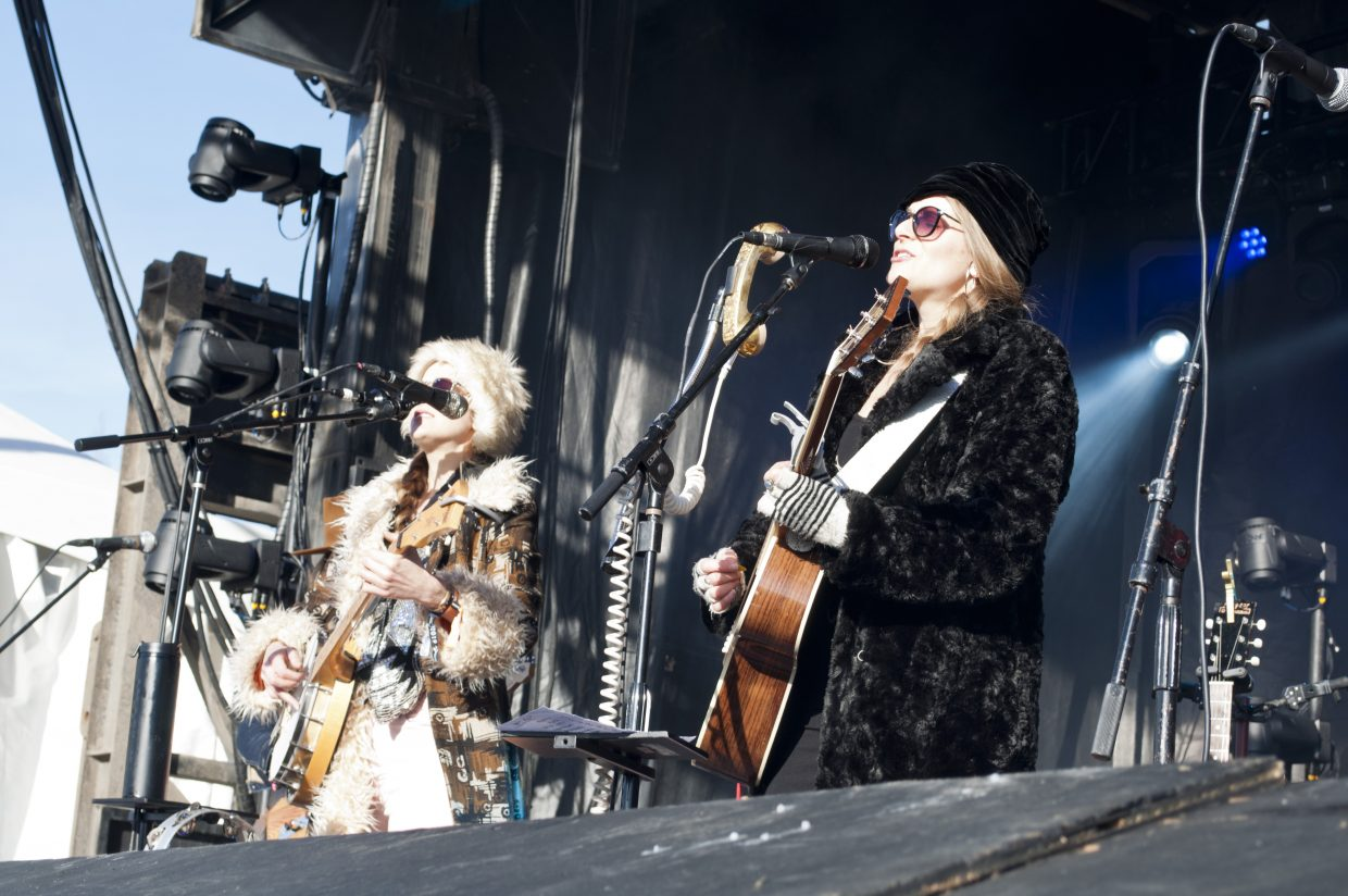 The Shook Twins play the main stage on Sunday, Feb. 24, at WinterWonderGrass in Steamboat Springs.