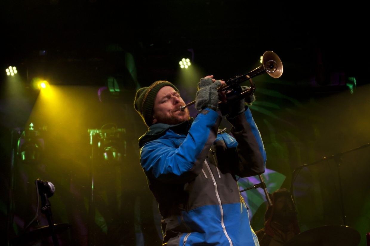 Lech Wierzynski and the band California Honeydrops play the main stage on Saturday, Feb. 23 at WinterWonderGrass in Steamboat Springs.