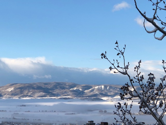 Low clouds hang over Routt County.