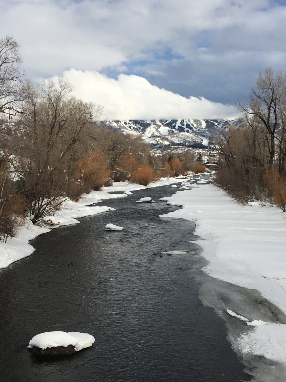 A shot of the Yampa River.