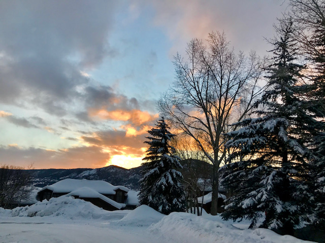 The sun sets in Steamboat Springs.