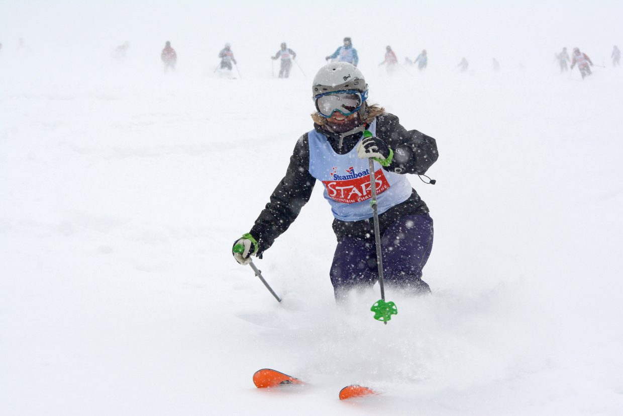 Stars Mountain Challenge participants enjoyed a fresh foot of snow during the organizations fund raiser on Saturday.