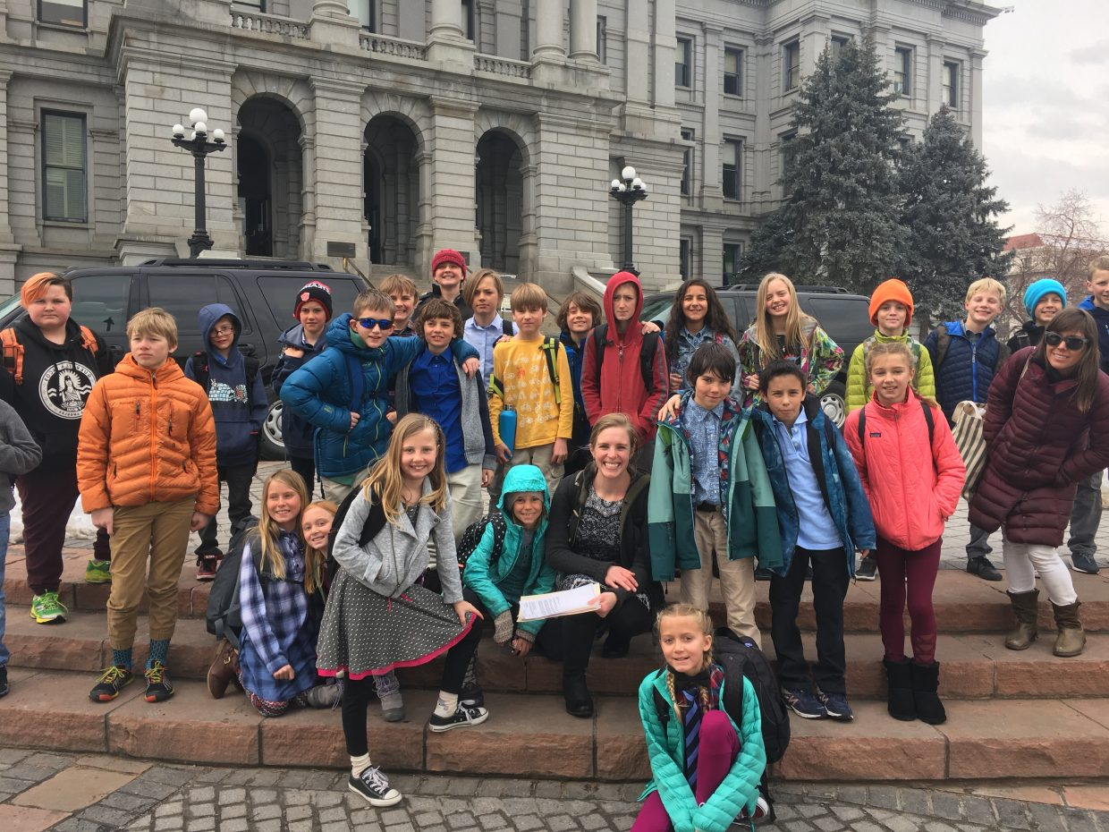 On Wednesday, Mountain village Montessori charter school's fourth-, fifth- and sixth- grade students visited the denver Mint and colorado state capitol. at the capitol, students met with district 26 house representative dylan roberts, who shared with them his role as a legislator and the current bills he is working on.