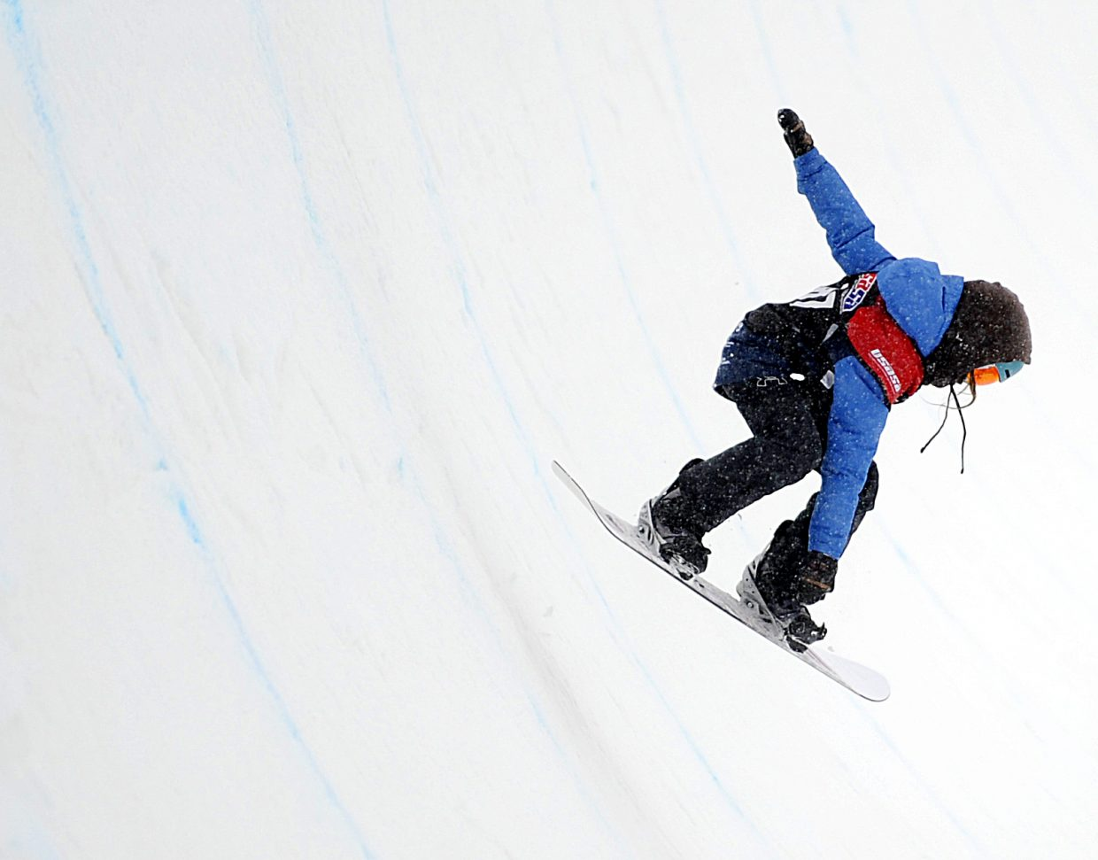 Team Summit's Alyssa Moroco, 12, competes in the United States of America Snowboard and Freeski Association Halfpipe at Steamboat Resort on Saturday, March 2. The competition also included a rail jam that night and a slopestyle competition on Sunday that was hosted by the Steamboat Springs Winter Sports Club.