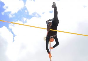 Steamboat Springs senior pole vaulter breaks school record