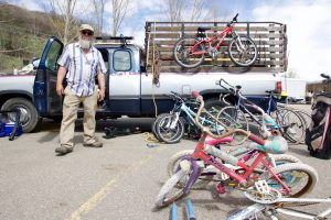 Old bikes, rusty ovens and lots of retired skis turn up at Steamboat's recycling drop-off day