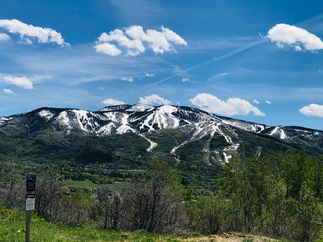 Snow starts to melt as green takes over the Yampa Valley.