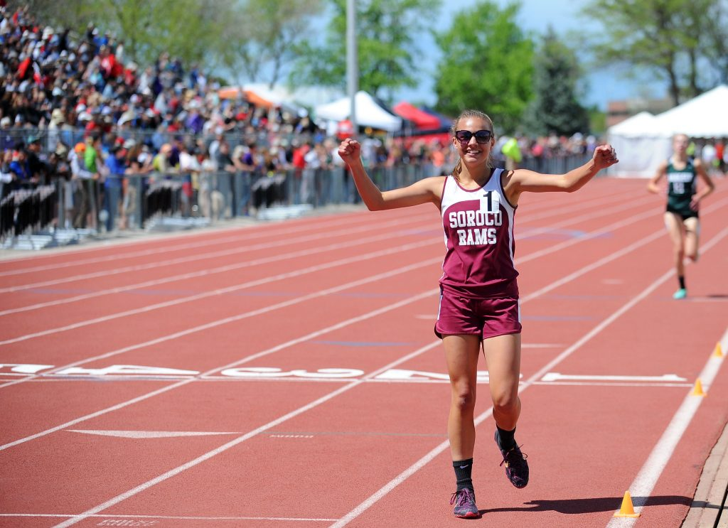 Soroco's Chloe Veilleux doubles up on state titles in final year on the track