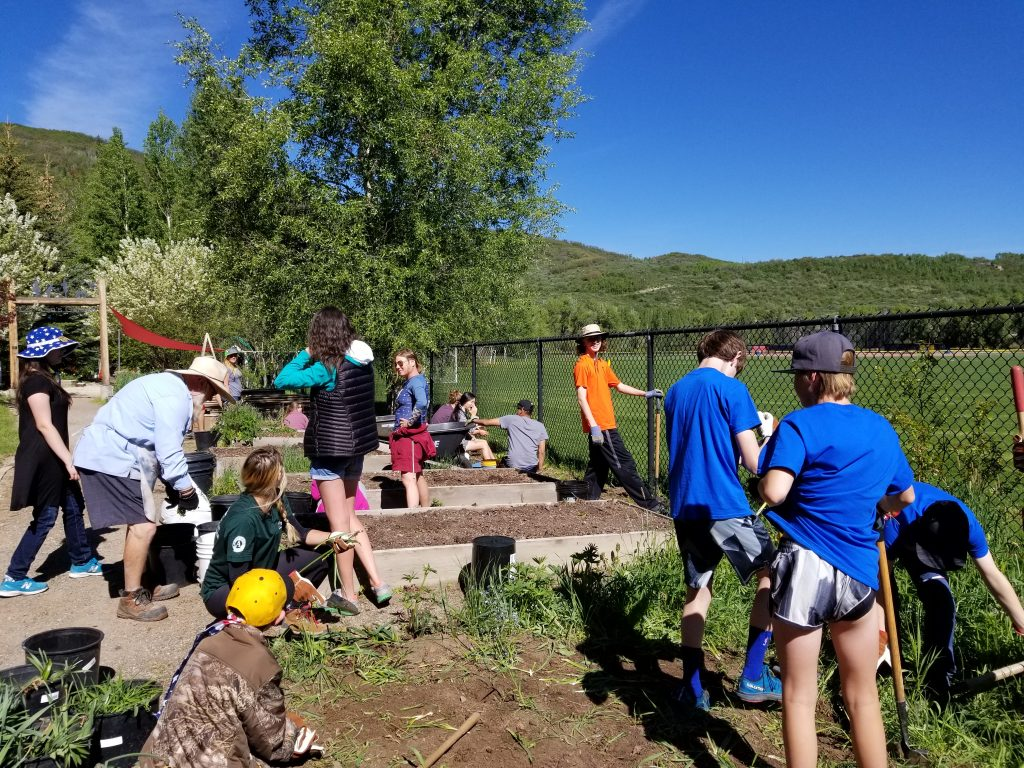The community comes together at Yampa River Botanic Park.