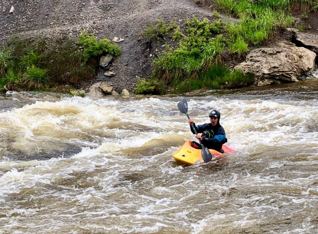 Playing in the Yampa River.