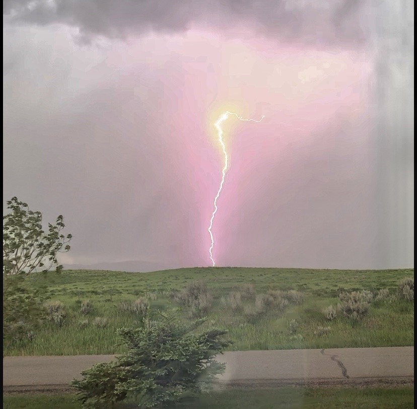 Lightning captured in Hayden!
