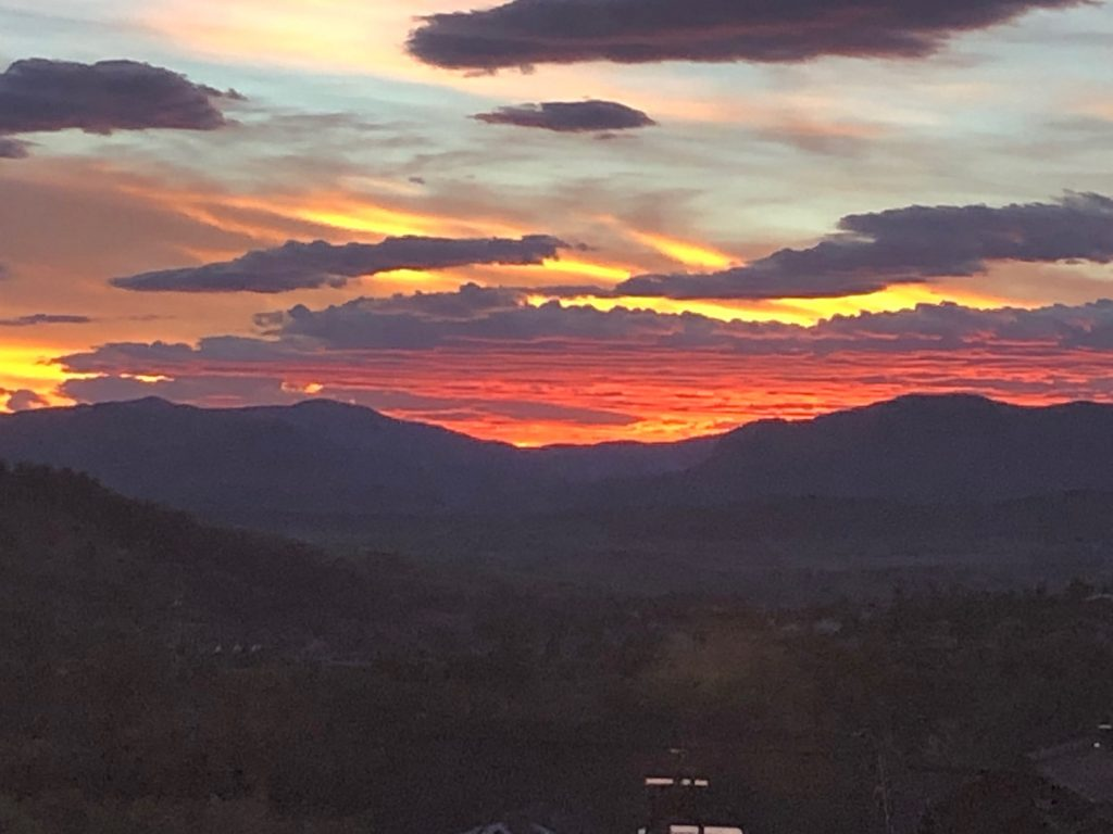 Sunset over the Yampa Valley