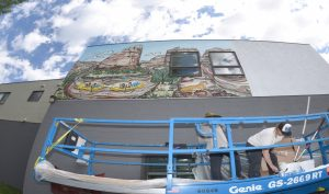 Paint with the flow: New, 70-foot mural celebrates the Yampa River