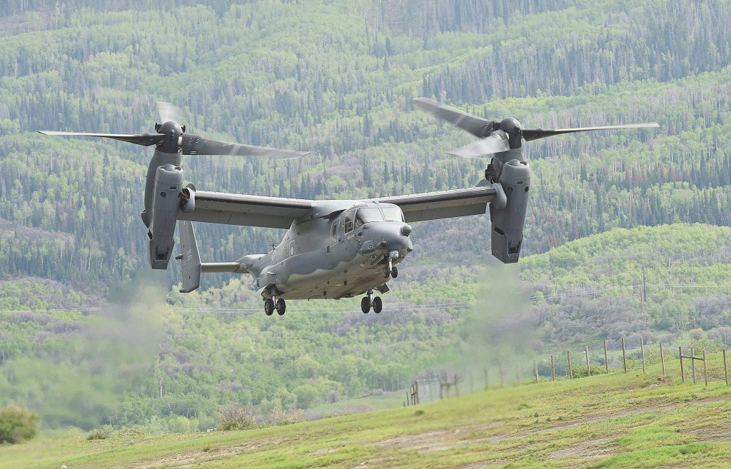 VIDEO: Osprey lands at Steamboat Springs Airport