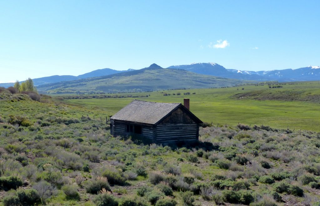 An old cabin in Jackson County which is between Walden and the base of Rabbit Ears Pass.