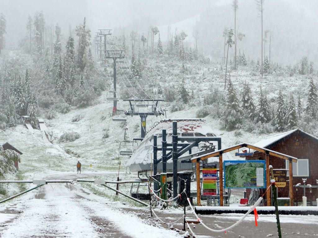 Heavy snow in Steamboat Springs