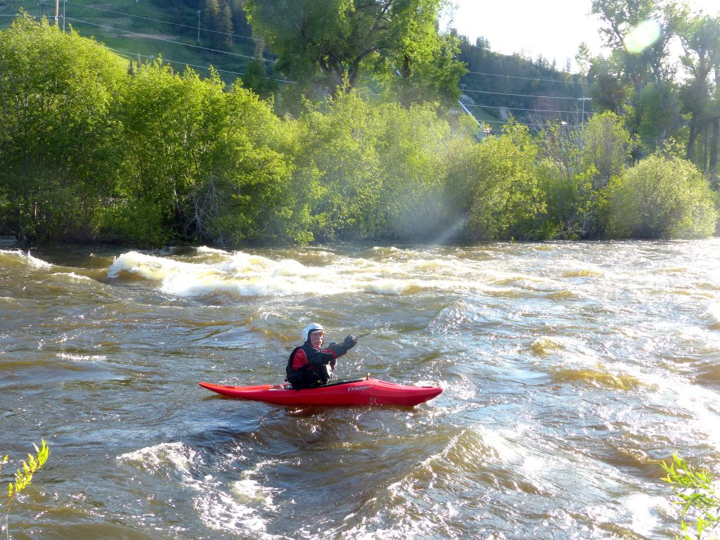 Folks playing on the Yampa River.