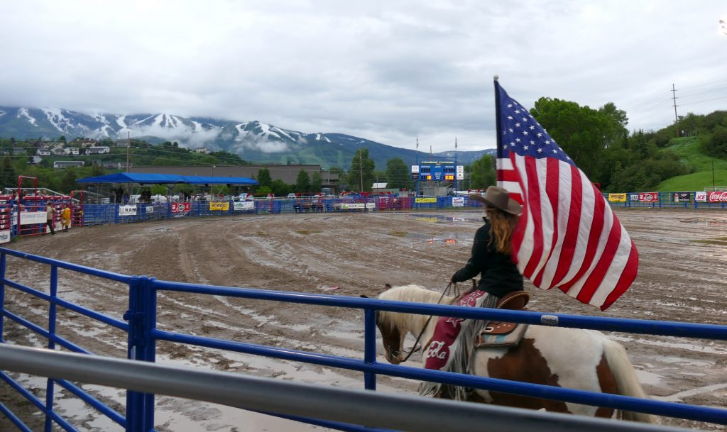 The Steamboat Pro Rodeo Series kicked off this weekend. Sadly, it was pouring down rain, or snowing, but cold and definitely muddy.