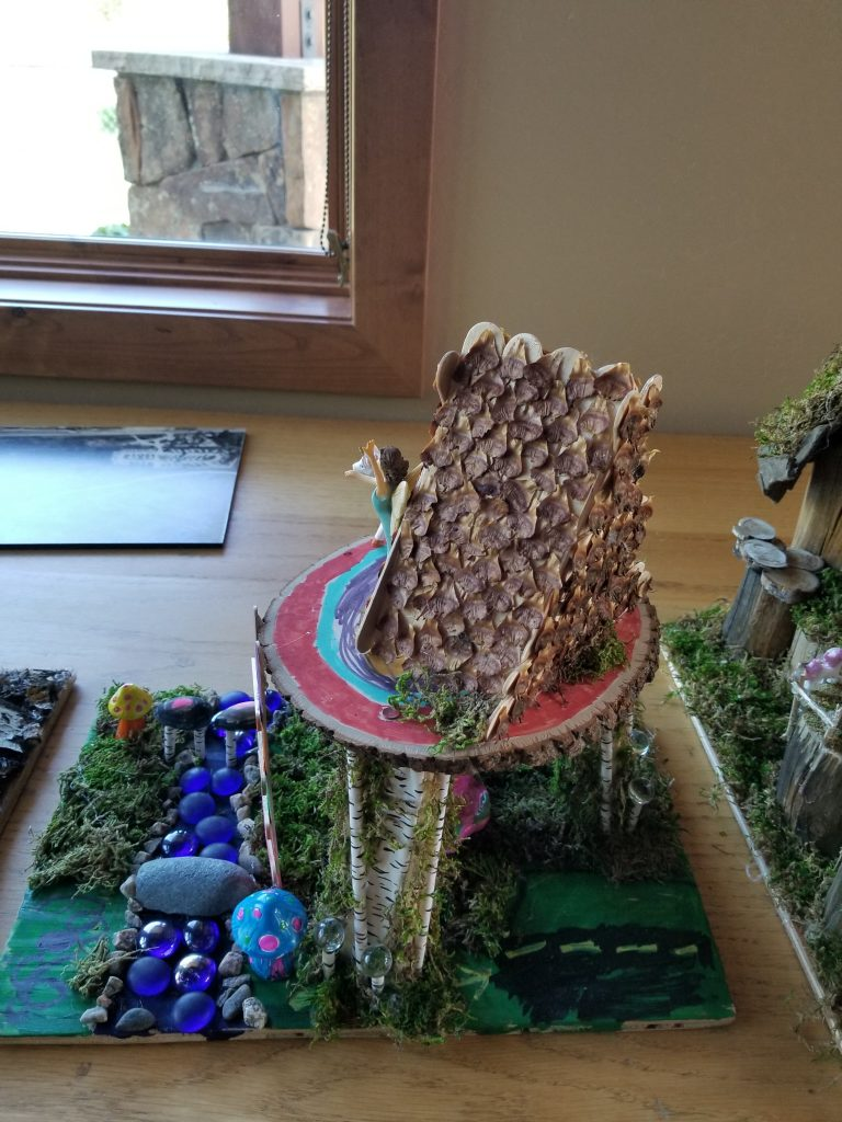 Fairy house, new at Yampa River Botanic Park