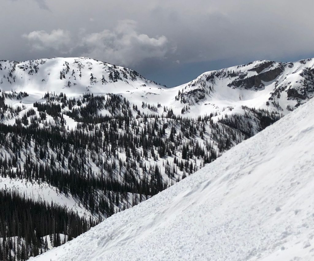 Snow still covers Gilpin Saddle in the Mount Zirkel Wilderness Area.