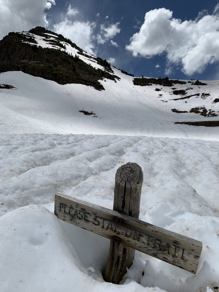 Danielle G. Truszkowski shares photos from a still semi-snowy Flat Tops Wilderness Area and Devil's Causeway.