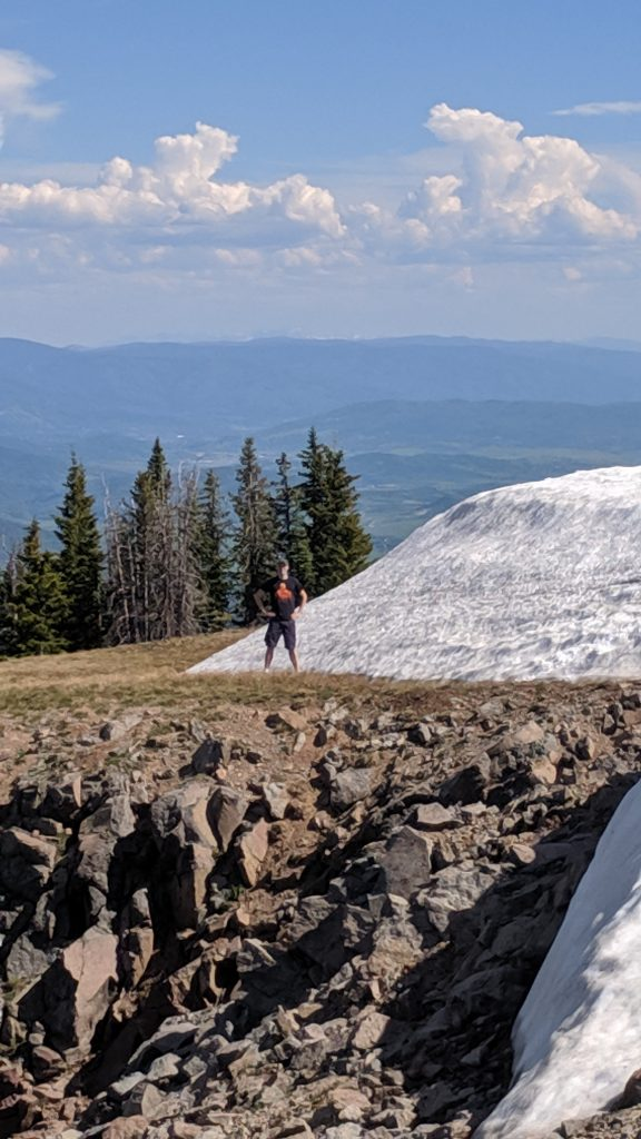 Top of Sand Mountain in North Routt County.