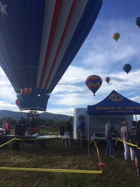 2019 Steamboat Springs Hot Air Balloon Festival launch