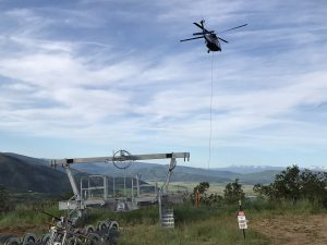 Need a lift? Black Hawk helicopter helps with gondola construction at Steamboat Resort