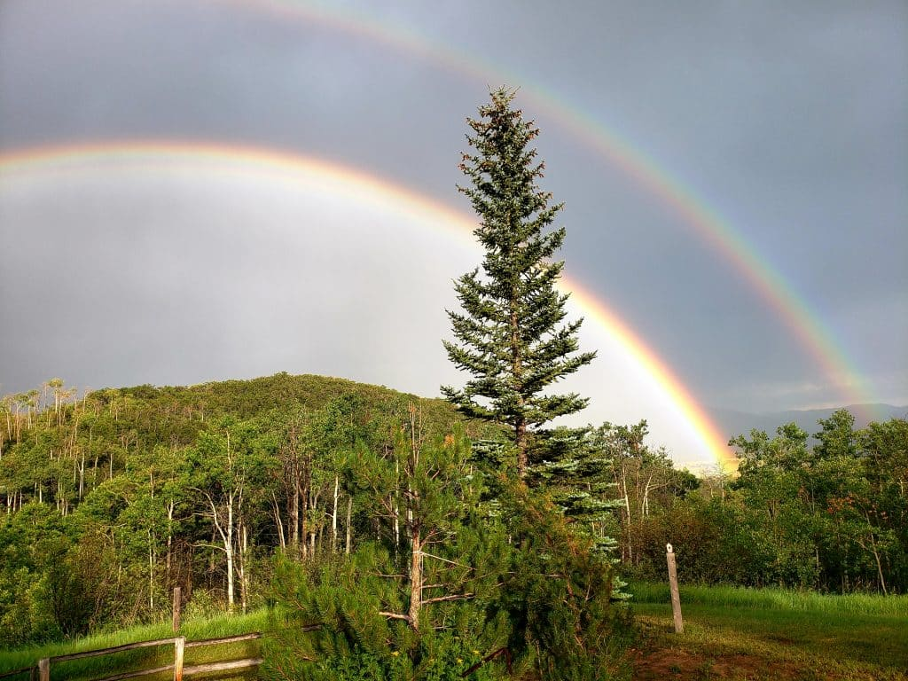Thought I'd share our view of the south valley with a double rainbow taken Friday, Aug. 16, around 6:30 p.m.