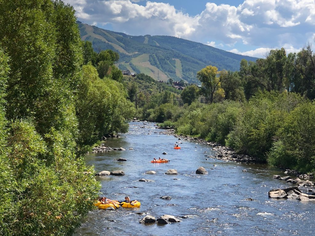 Lively Yampa River scene
