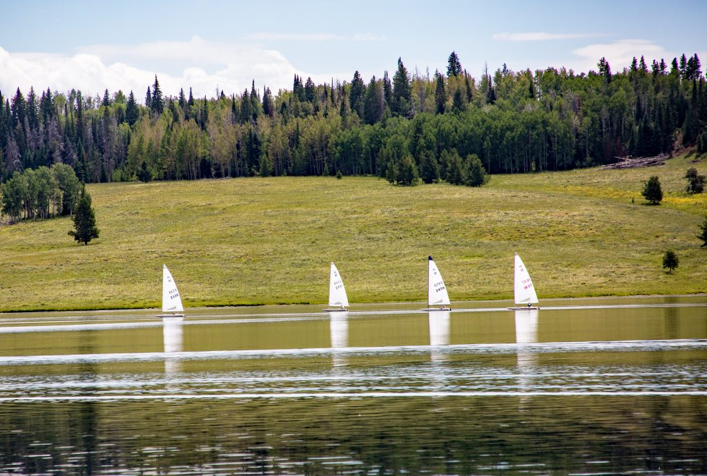 Sailboat Competition at Steamboat Lake
