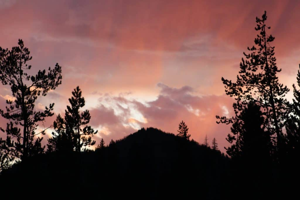 Sunset in North Routt