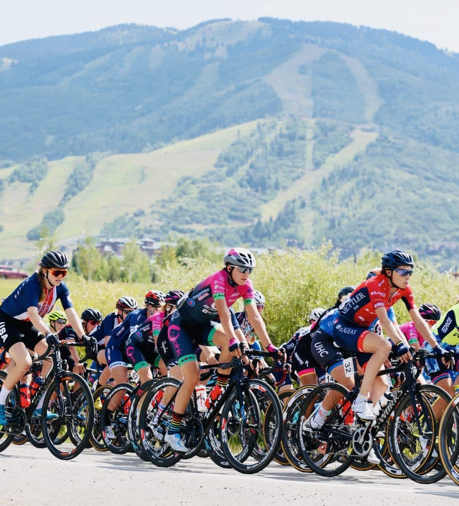 Cyclists competing in the Colorado Classic roll through Steamboat Springs on Thursday, Aug. 22.