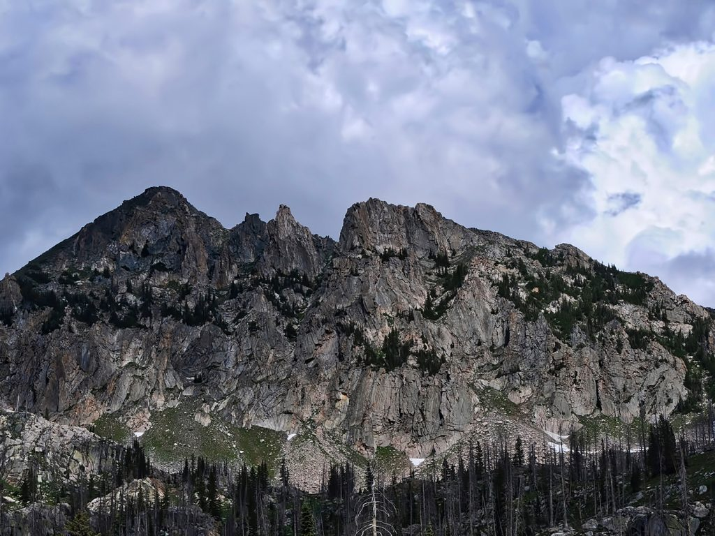 Snow has mostly disappeared from Mount Zirkel in the Mount Zirkel Wilderness Area.