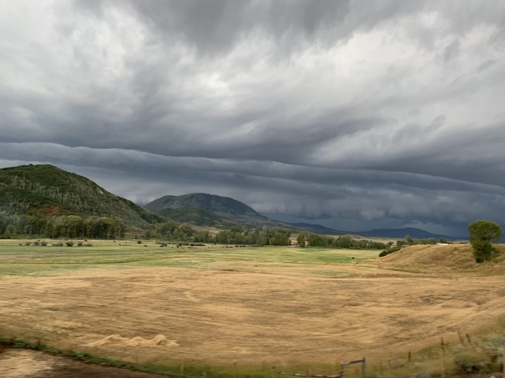 Storms roll into Routt County on Sunday.